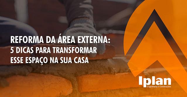 Reforma da área externa